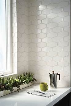 elongated hexagon tile for kitchen backsplash better than