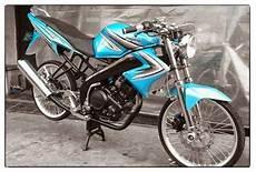 Modifikasi Vixion Standar by Modifikasi Motor Vixion Standar Velg Jari Jari Tdr