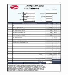 car insurance claim estimates auto repair estimate template excel clergy