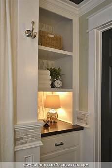 bathroom linen closet ideas diy bathroom remodel before after