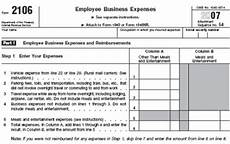 irs deductions w 2 form 2106 part 2