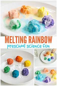 easy science experiments worksheets 12675 melting rainbow preschool science experiment science experiments for preschoolers science for