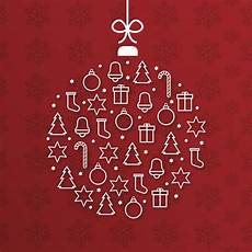 modern merry christmas card with ball shape vector free download