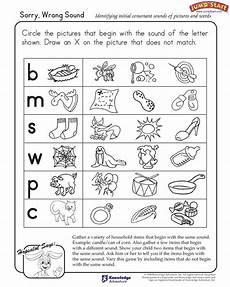 quot sorry no sound quot kindergarten english worksheet initial consonant sounds jumpstart