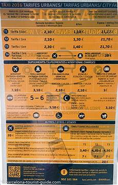 barcelona taxi fares and supplements