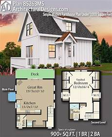 modern house plans under 1000 sq ft plan 85263ms simple modern farmhouse plan under 1 000