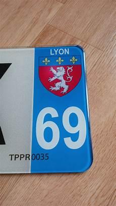 Plaque Immatriculation Plexiglass 69 Lyon