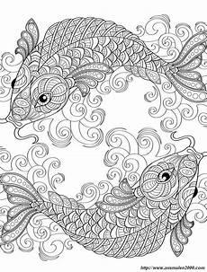 Ausmalbilder Erwachsene Fische Ausmalbilder F 252 R Erwachsene Bild Zwei Symmetrische Fisch