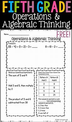 algebra worksheets 5th grade 8308 fifth grade math review 7 free worksheets fifth grade math daily math math expressions