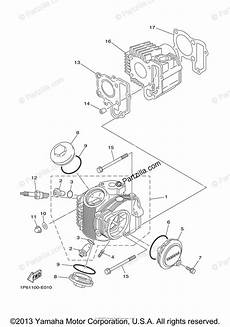 yamaha motorcycle 2008 oem parts diagram for cylinder head partzilla com