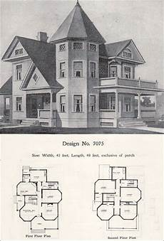 victorian house plans with turrets two story plus queen anne with tower and turret 1908
