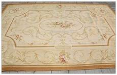 2x3m Wool Woven Shabby Chic Style Aubusson