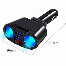 Bakeey Dual Rotation Smart by Digital Dual Usb Charger 2 Way Car Cigarette Lighter