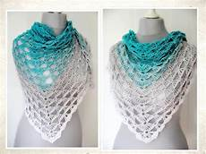 tuch häkeln anleitung crochet pattern triangular shawl quot azores quot