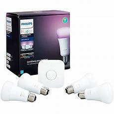 philips hue white and color ambiance a19 3 starter kit