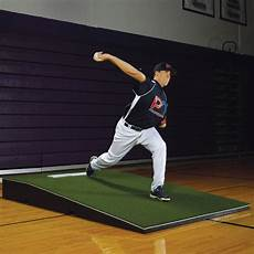 promounds promodel pitching mound with green turf on deck sports