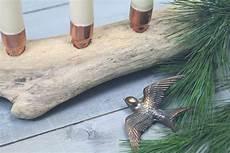 Adventskranz Aus Treibholz - minimalistischer adventskranz mit kupfer treibholz diy
