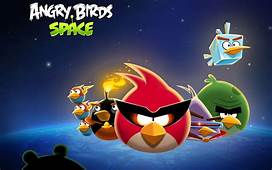 Angry Birds Space Cartoon Full HD Image Wallpaper For IOS