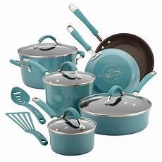 p0tzxs 12pc cookware set nonstick blue pots