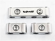 12pc billet aluminum spark plug wire separators divider car truck chrome plated ebay