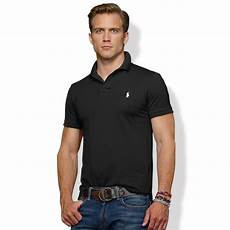lyst polo ralph slim fit stretch mesh polo in
