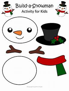 printable snowman craft with free template simple