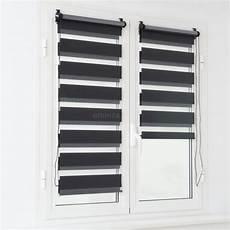 store enrouleur 45 x 180 cm jour nuit noir rideau