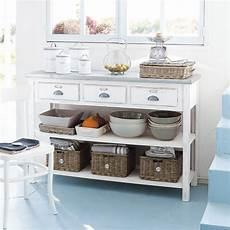 console cucina console 3 tiroirs 3 paniers blanche sorgues maisons du