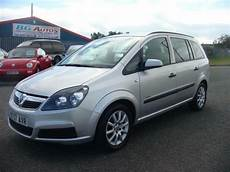 57 vauxhall zafira 1 6 7 seater silver mpv in