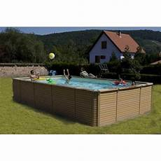 Zodiac Azteck Hors Sol Rectangle 5 3x3 65m Piscine Bois