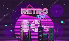 Retro Stil Der 80er Jahre Disco Design Neon Stockvektor