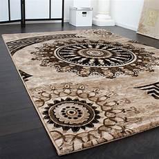 teppich de teppich gemustert kreis ornamente meliert teppich de