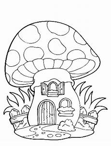Mushrooms To Color For Children Mushrooms Coloring