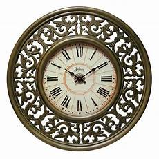 shop crescendo 26 inch antiqued gold mdf wall clock free