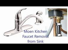 how to remove a faucet from a kitchen sink moen circa 2008 kitchen faucet removal