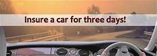 buy 3 day car insurance at the cheapest price