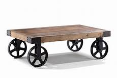 Table Basse Industrielle 224 Roulettes Tb01 Table Basse