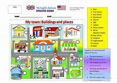 places in town writing worksheets 16040 my town places and buildings worksheet free esl printable worksheets made by teachers