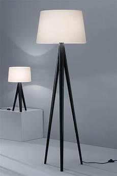 abat jour contemporain design ladaire tr 233 pied noir abat jour chintz blanc baulmann leuchten luminaire de prestige fabriqu 233