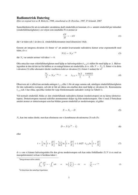 Radiometrisk Datering