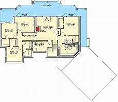 mountain house plans rear view plan 35394gh sloping lot home plan with great rear facing