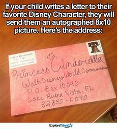 activity worksheets 20294 send letters to disney characters and they will send a signed picture back ad disney
