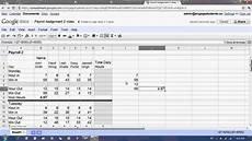 google docs spreadsheet payroll 2 tutorial youtube