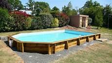 piscine bois semi ovale 5 25 fabricant de piscines en bois