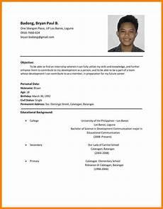 11 resume sles philippines sle resume format