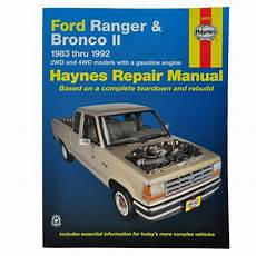 how to download repair manuals 1984 ford bronco ii lane departure warning haynes repair manual for 83 90 91 92 ford ranger bronco ii ebay
