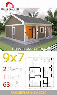 house plans with gable roof house design plans 9x7 with 2 bedrooms gable roof house