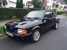 Ford Xr3i Black Cabriolet History Rs