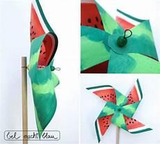 Windräder Basteln Für Draussen - melonen windrad handmade kultur