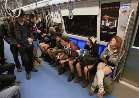 No Panties On Train
